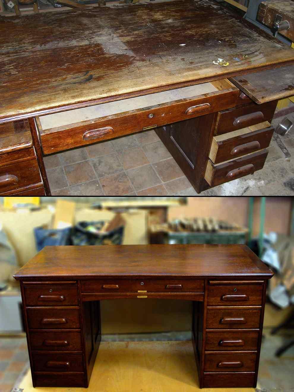 Реставрация деревянной кухонной мебели своими руками