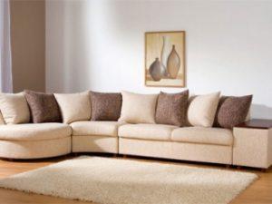 Перетяжка углового дивана на дому в Серпухове